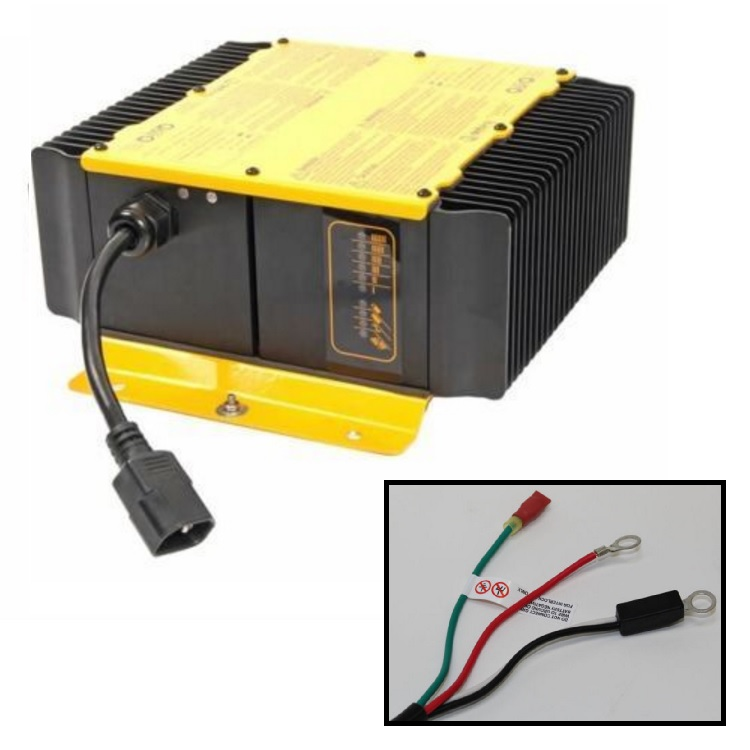 Delta Q 36 volt battery charger with eyelet terminal connectors